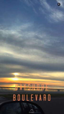 Senior Avery Stanechewski captures the morning sunrise from Bayshore and shares this artsy picture on her story for all of her friends to see.