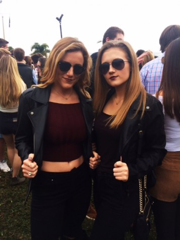 AHN Seniors, Hadley Chillura and Avery Dierks sporting their leather jackets at the Tampa Bay Yacht Club.