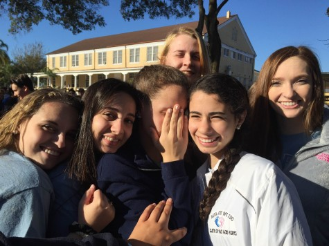 """AHN Senior Bryanna LaRussa shared """"My absolute favorite part of the rally was definitely being able to experience such a powerful union of pro life movements with all of my AHN sister."""""""