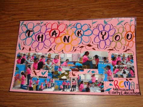 In response to their service, the RCMA center in Wimauma gifted missionaries with beautiful posters expressing their gratitude. Credit: Rachel Rosales (used with permission)