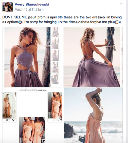 Seniors posting about their dresses to make sure no two girls match like the tip Rebecca Castellano gave