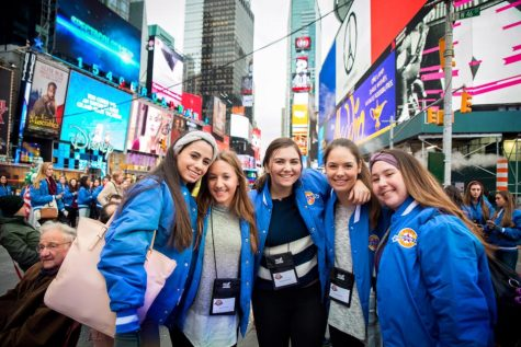 """Performing in the Macy's Thanksgiving Day Parade this year, as seniors, was probably the most rewarding part about being on dance team! It was incredible, and made all of my hard work through high school worth it!"" exclaims Senior Maddie Matesich"