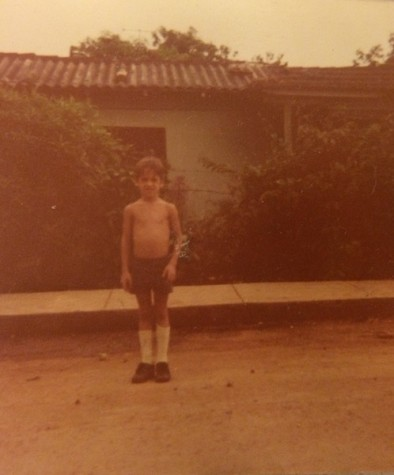 This picture was taken when Karvel Toranzo was six, nine years before his family left Cuba.