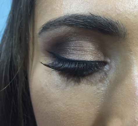 Lily Oliva with her winged eyeliner for homecoming court. Credit: Lily Oliva/ Achona Online