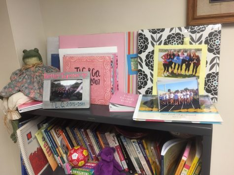 Debbie Lubrano loves her students from all years. She keeps the memories all around her office.