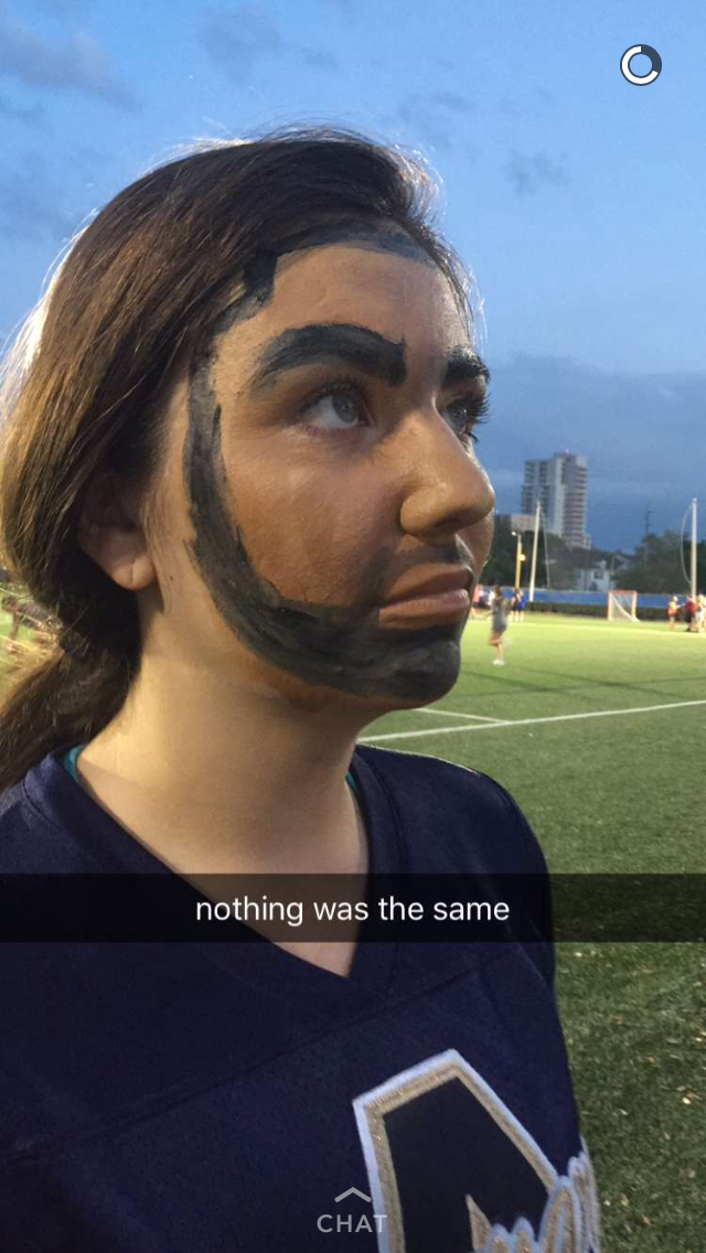 """Nothing was the same"" was referenced several times to Matesich while in her Drake face-paint"