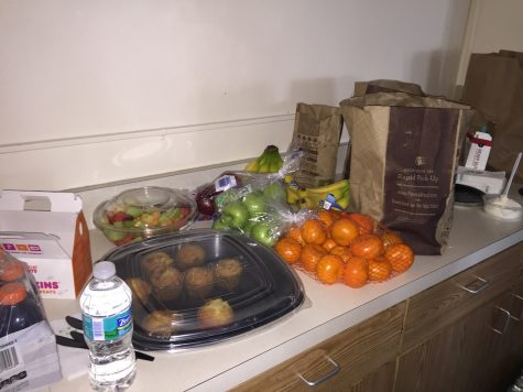 Food was set out all day for students who donated to make sure they were reenergized before heading back to classes