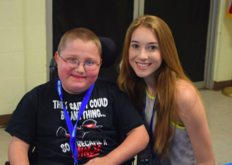 Senior Mary DesRoisers works at MDA camp every summer.