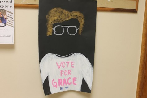 Junior Grace Neal lets her quirky personal shine though in her campaign signs.