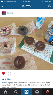 Junior Liz Benjamin enjoys some donuts with her friends!