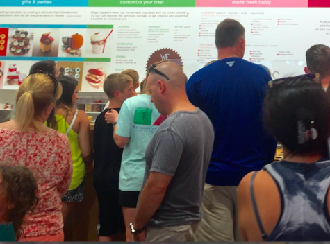 Freshman, Emily Abdoney, said that she had to wait almost 40 minutes in line at Sprinkles.