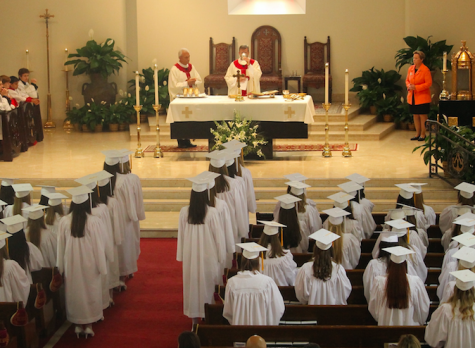 Baccalaureate Mass is the last mass the seniors attend as a class.