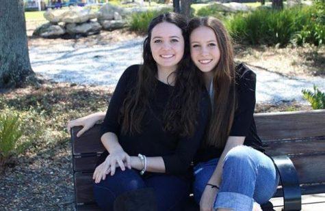 Senior Caroline Swenson with little sister Gretchen Credit: Caroline Swenson