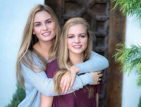 Senior Olivia Kirkpatrick with little sister Bella. Credit: Olivia Kirkpatrick