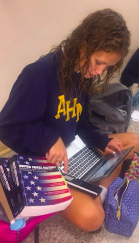 """I think APUSH was really intimidating at first because we basically had to memorize everything in a certain time period for a quiz that only had 5 FRQs, but I think we will get the hang of it."" -Kenna Weathers"