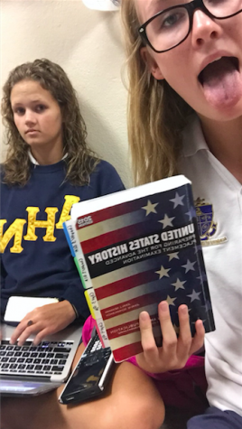 McKenna Weathers and Erica Dierks enjoy being study buddies because they have almost all of their classes together.
