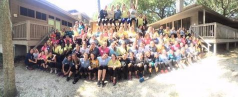 New high school counselor Ms. Pantellis helped the girls capture this unique panoramic photo: Photo Credit: Alex Smith/Achona Online