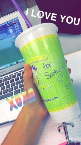 Credit: Rachel McKenna (ACHONA Online) Sophia Mastro was thrilled that her secret pal, Lexie Diez, went the extra mile to figure out her favorite type of smoothie!