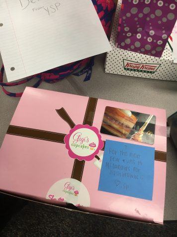 Credit: Rachel McKenna (ACHONA Online) Some girls even brought their secret pals cupcakes from Gigi's Cupcakes!