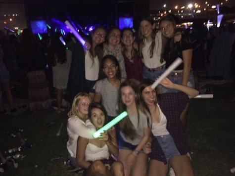 Many Academy girls found each other at the festival last year and got to enjoy the lights and music together.