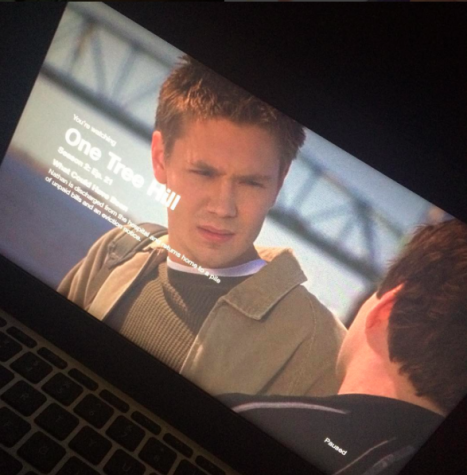One Tree Hill's heart throb, Lucas Scott, fills Alvarez's screen with his beautiful face