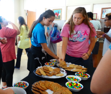Credit: Sophia Mastro/Achonaonline. By the end of the day, the senior girls had cleared an entire table of cookies and snacks.