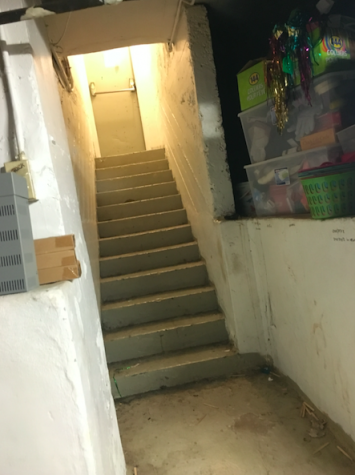These steps lead to the first-floor right stairwell. Credit: Audrey Diaz/ Achona Online