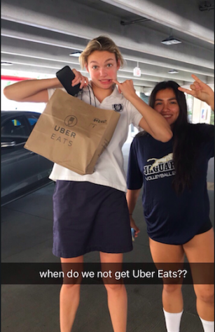 Opp and Davila, pick their ubereats, which has become a pre practice tradition