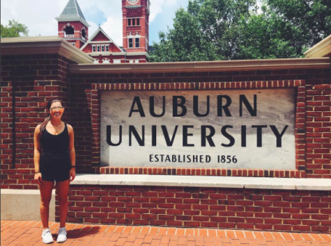 Senior, Bella Guerra toured Auburn University over the summer and photographs the moment, as seen on her Instagram. She hopes that an Auburn representative will visit AHN this year, so she can learn even more about the school.