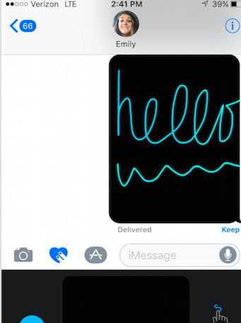 """I think the new animations on iMessage are so entertaining that I played with them for a solid twenty minutes when I updated my phone"", stated senior, Zoe Cuva."