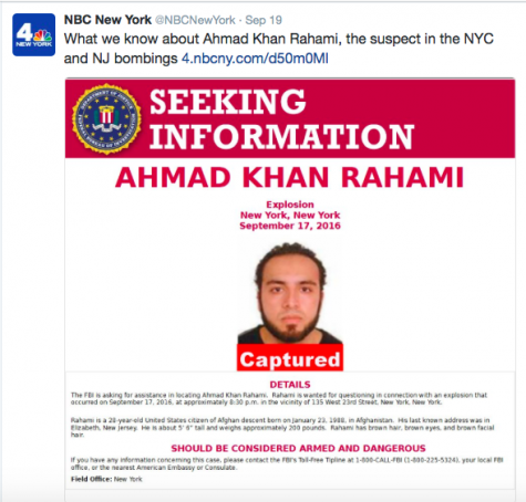 Suspect Ahmad Khan Rahami is captured and charged with planting bombs in New York and New Jersey. Credit: NBC New York