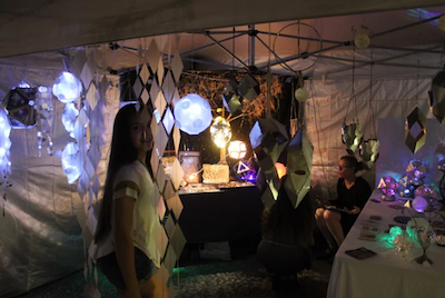 Tess Jakubiec enjoys the Moonlight Market and its crafts and people.