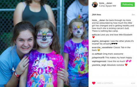 Dolan's idea for the run was sparked by her involvement in Camp Agape, where participants work closely with a family effected by cancer.