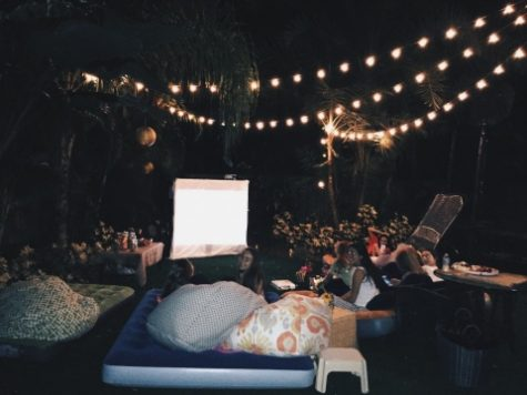 Photo Credit: Audrey Dunn (used with permission) Academy girls having their own movie night filled with Pinterest DIY ideas.