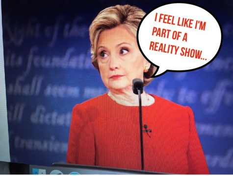 Hillary frequently conveyed her astonishment at, in her opinion, Trump's over the top temperament. Photo Credit: Alex Smith/Achona Online