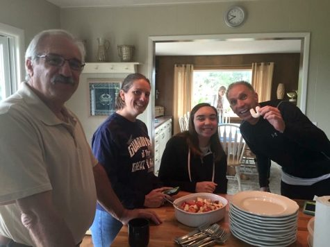 "Senior Leila Zupsic and her family will often cook traditional Polish ""horsehoes"" made with almonds, flour, and powdered sugar"