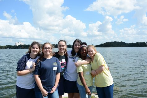 Sophomores enjoy the day with one another while expanding their recognition of faith and friendship.