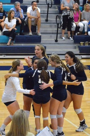 """Jessica Prossen (10) expresses, """"My favorite memory from this season is when we beat Tampa Catholic in Spike and Splash. It was so exciting because everyone in the stands was hyped for every point."""""""