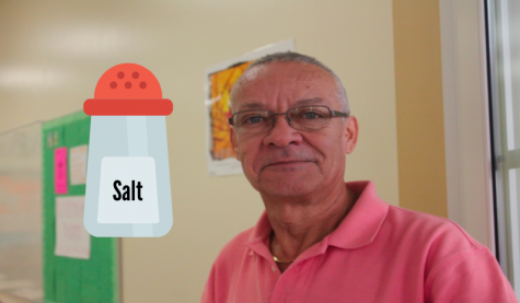 Photo Credit: Julia Prince (Achona Online) Every student who has ever taken Spanish with Ruano knows his love for salt. Due to a sodium deficiency, Ruano will eat small handfuls of salt throughout the day.