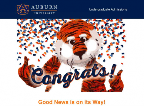 """Used with the permission of Haley Schumann. """"I recently visited Auburn's campus after receiving my acceptance letter and I can totally see myself there. I loved it.""""- Haley Schumann"""