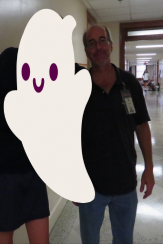 Photo Credit: Audrey Diaz (Achona Online) Ralph has recently been seen ghost hunting around Academy. This past year he has gotten very close with the ghost from the fourth floor, Zozo.