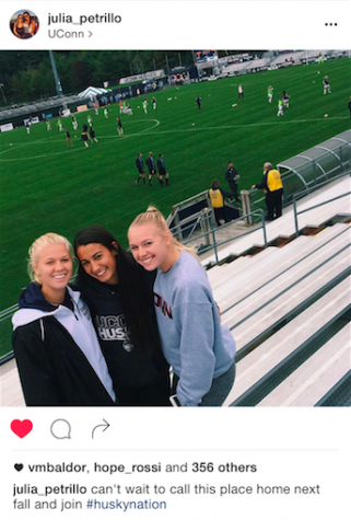 """Used with Permission of Julia Petrillo. """"I am so excited to be attending the University of Conneticuit next year and to continue my soccer career.""""- Julia Petrillo"""