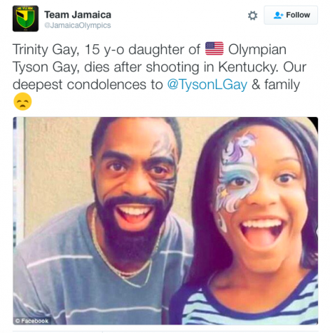 Jamaican Olympic twitter page's post expressing their sadness for their opponent loss