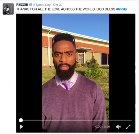 Tyson Gay states that he wants the violence to stop