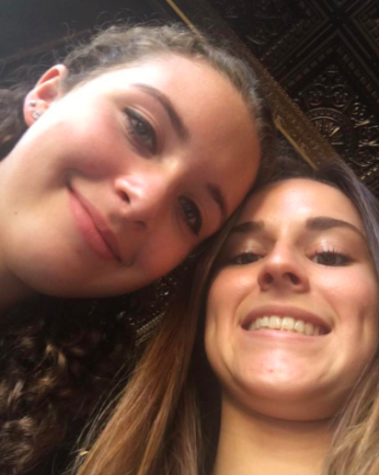 Senior Tessa Vaughn snaps a selfie with her coworker at Roux to send to the manager. Photo Credit: Tessa Vaughn (used with permission)
