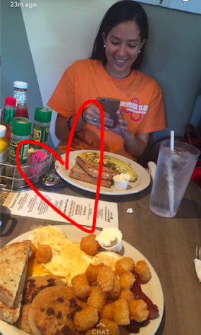 Jessica Zachary made sure she captured her delicious breakfast on snapchat. Photo Credits: Jessica Zachary (used with permission)