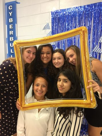 The girls were eager to take pictures in front of the tournament's Photo Booth.