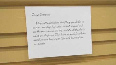 Many letters were written to express the love and gratitude Academy has for our veterans. Credit: Emily Hoerbelt/Achona Online
