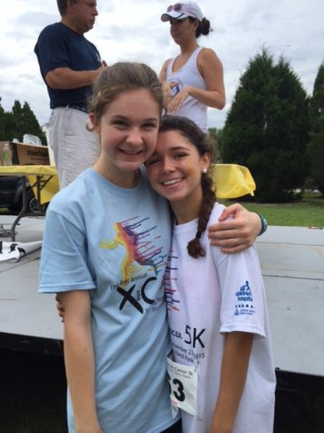 "Sophomore Greta Dieck, a member of the Cross Out Cancer team, comments, "" This experience has made me more responsible and appreciate just how much Lizzie and Lindsey put into this event. The fundraiser was awesome! The atmosphere was incredible and the night was a success."""