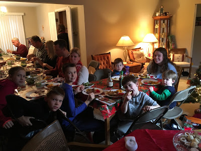 Miller and her family feasting in Ohio! Photo Credit: Samantha Miller (used with permission).